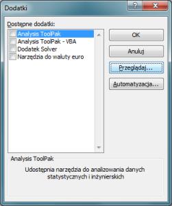 Transfer danych - wyszukanie dodatków